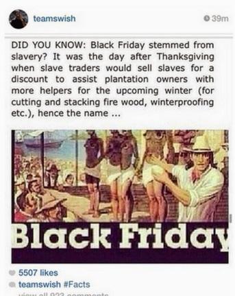 black friday slavery